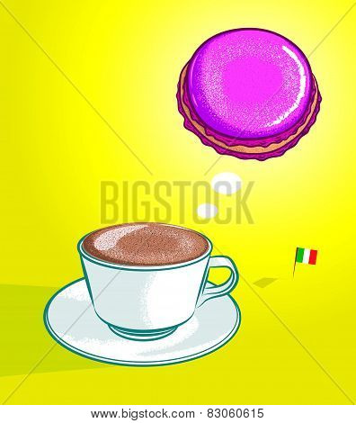 Cappuccino and Macaroon