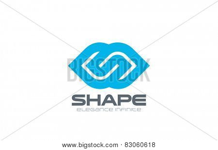 Logo infinity abstract design vector template. Logotype concept for medicine, pharmacy, clinic, spa, health & beauty salon etc. Creative design infinite shape looped icon.