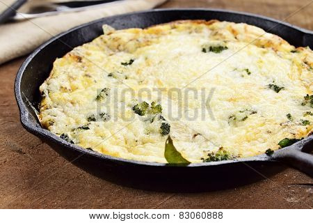 Broccoli, Mushroom And Spinach Frittata