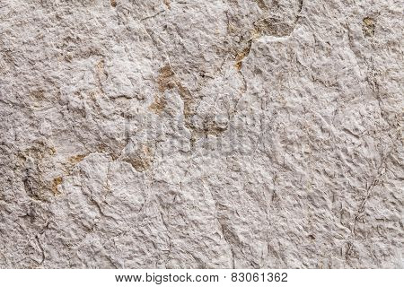 Close Up On Rough Texture Of An Ancient Stone Wall