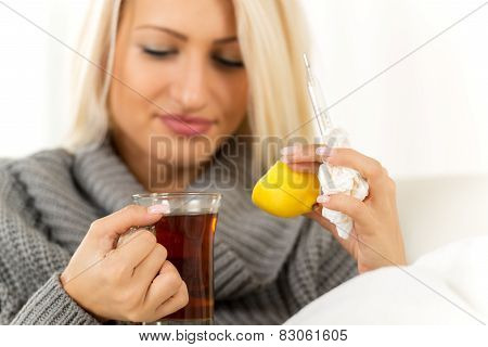 Lemon And  Tea Against Colds