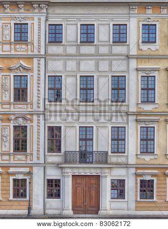 Vintage house facade Dresden, Saxony Germany
