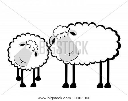 smiling sheep in love