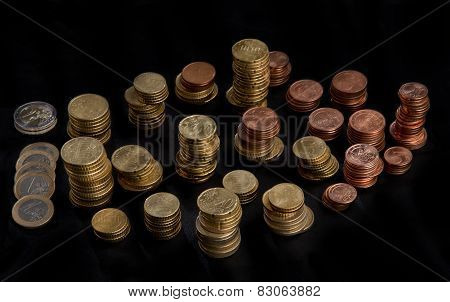 Stacked Heaps Of Coins