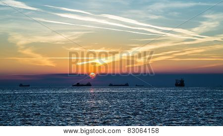 Tanker In The Bay Of Trieste
