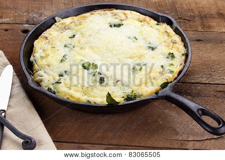 Broccoli, Spinach And Mushroom Frittata