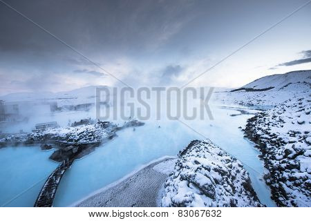 Blue lagoon hot spring spa, Iceland