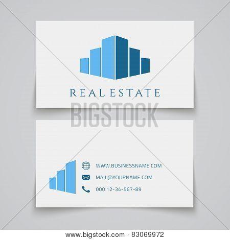 Busines card template. Real estate logo.