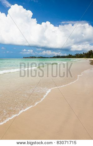 Long sand beach at tip of borneo