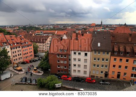 Nurnberg, Germany - July 13 2014. Cityescape Of Nuremberg, Germany, From The Castle Walls