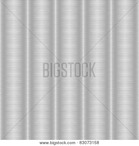 Seamless silvery striped texture. Vector art. No gradient.