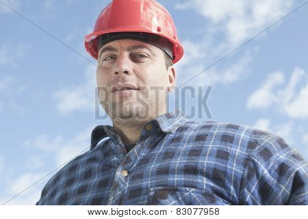 A construction  men working outside