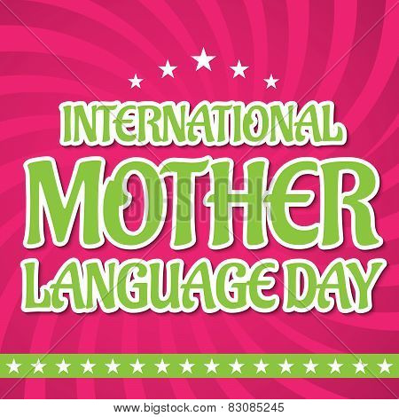 Mother Language Day.