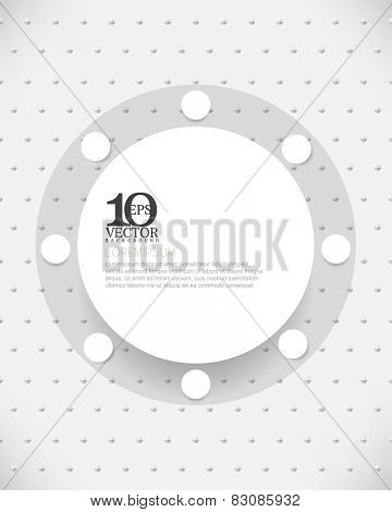 eps10 vector round modern empty space frame background design