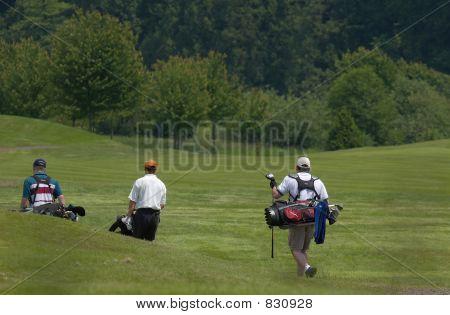 Golfing threesome