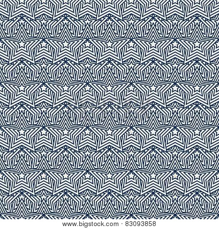 Navy Blue And White Star Tiles Pattern Repeat Background