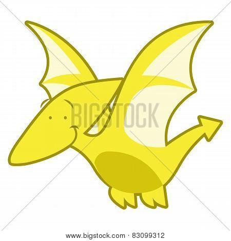 Vector Cute Cartoon Dinosaur Isolated On White Background