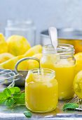 picture of curd  - the lemon curd and products for his preparation - JPG