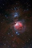picture of perseus  - Red nebula in the night starry sky during summer - JPG
