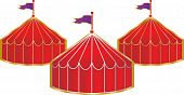 foto of circus tent  - A beautiful circus tent at a county fair - JPG