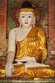 foto of yangon  - Buddha statue in Burma famous sacred place and tourist attraction landmark  - JPG