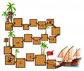 pic of pirate  - Illustration of a boardgame with pirate and sail - JPG