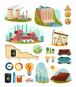 stock photo of natural resources  - Energetics and natural resources - JPG
