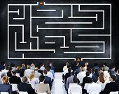 stock photo of maze  - Maze Puzzle Game Concept - JPG