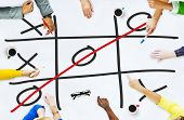 image of tic  - Tic Tac Toe Game Competition XO Win Challecge Concept - JPG