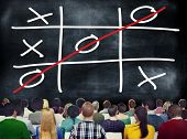picture of tic  - Tic Tac Toe Game Competition XO Win Challecge Concept - JPG