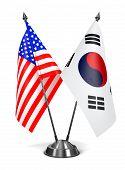 stock photo of south american flag  - USA and South Korea  - JPG