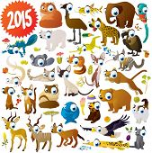 picture of eagles  - extra big set of cartoon comic funny cute animals - JPG