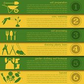 pic of work boots  - Garden work infographic elements - JPG
