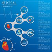 image of defibrillator  - Medical and healthcare infographic - JPG