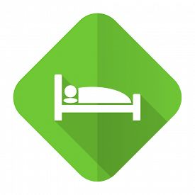 picture of flat-bed  - hotel flat icon bed sign  - JPG