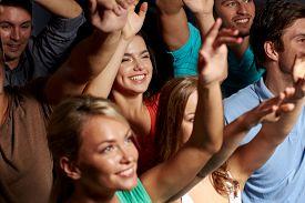 foto of waving hands  - party - JPG