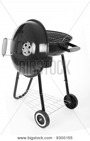 Black barbecue grill