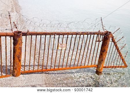 Fence On A Beach