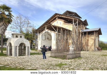 Abhazia. A Temple Of Dormition Of Most Holy Our Lady Is In A Village Lykhny
