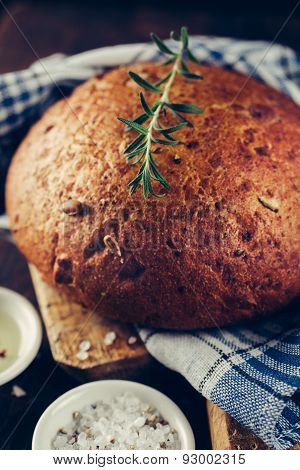 Traditional bread with rosemary