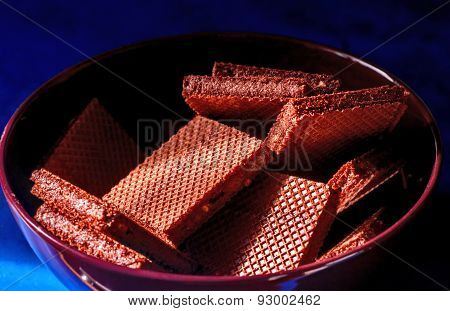Chocolate Wafers In Bowl