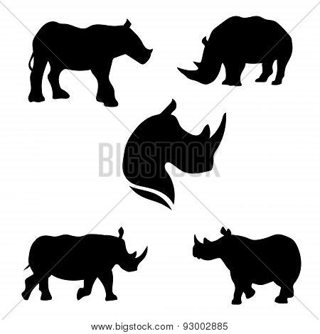Rhino set vector