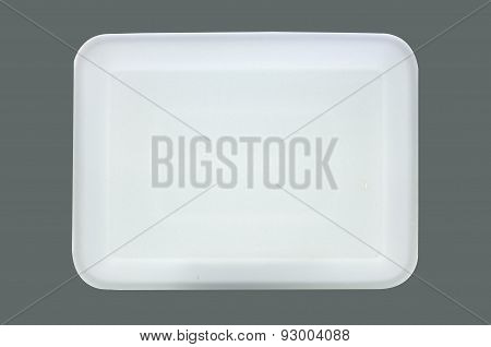 White styrofoam food tray