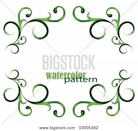 Green Watercolor Pattern - Frame