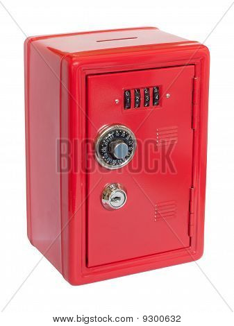 Red Moneybox Safe