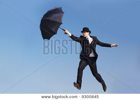 Man With Umbrella