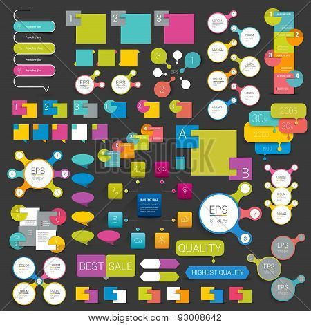 Collections Of Info Graphics elements.