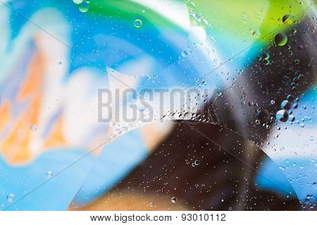 Abstract Background Of Oil Droplets On Water Surface