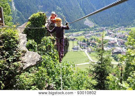Girl On Steel Cable