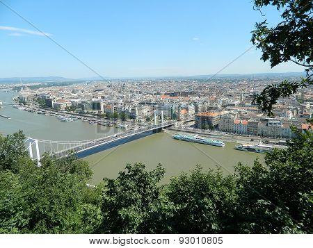 Newest bridge over the Danube in Budapest